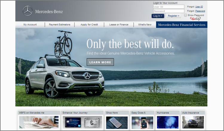 Mbfs login mercedes benz financial services login www for Mercedes benz finance login
